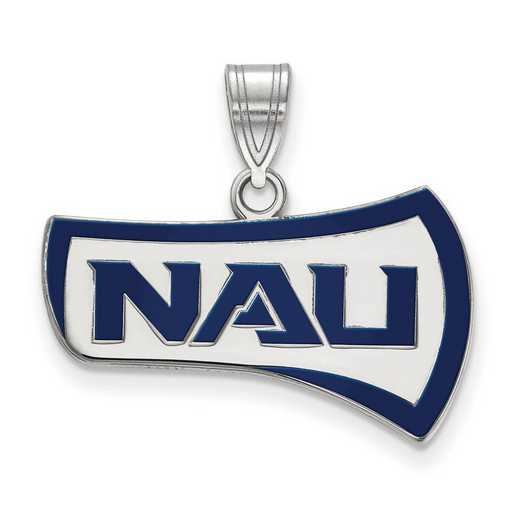 SS008NAU: SS LogoArt Northern Arizona Univ Medium Enamel Pendant
