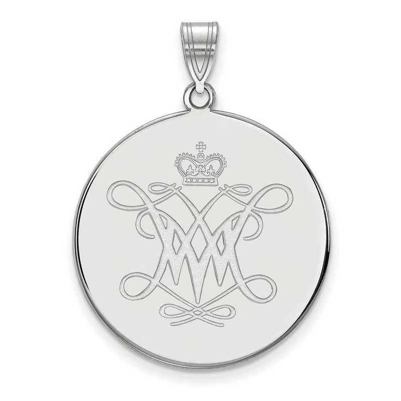 SS008WMA: SS LogoArt William And Mary XL Disc Pendant