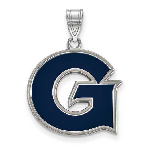 SS009GC: SS LogoArt Georgetown Univ LG Enamel Pendant