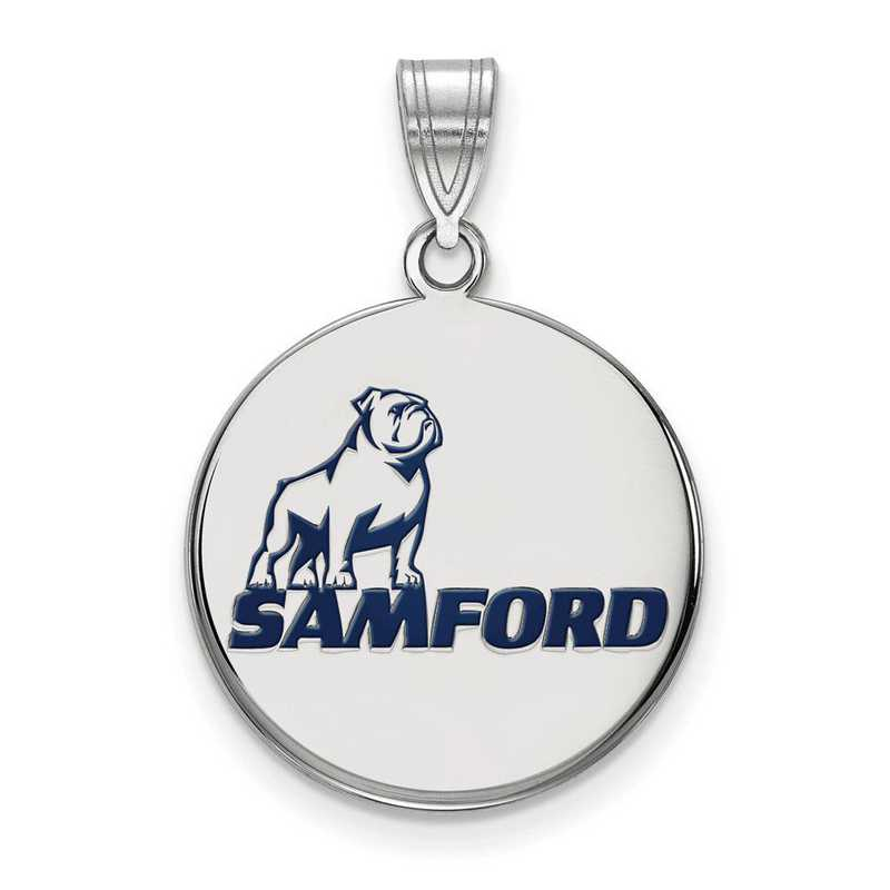 SS010SMF: SS LogoArt Samford Univ LG Enamel Pendant