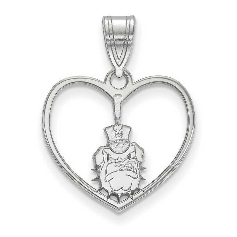 SS011TCI: SS LogoArt The Citadel Pendant in Heart