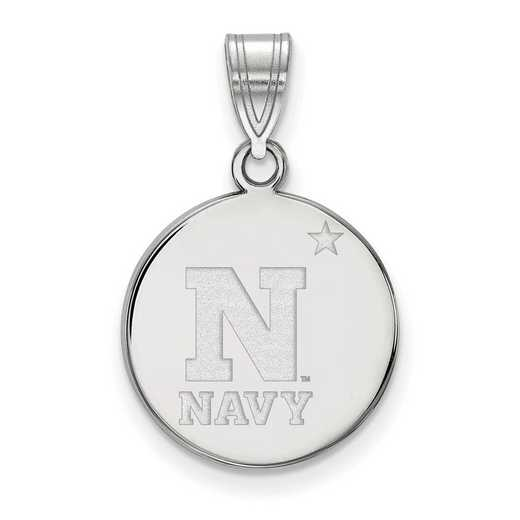 SS011USN: SS LogoArt Navy Medium Disc Pendant