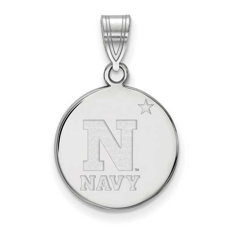 SS011USN: SS LogoArt Navy Medium Disc Pendant