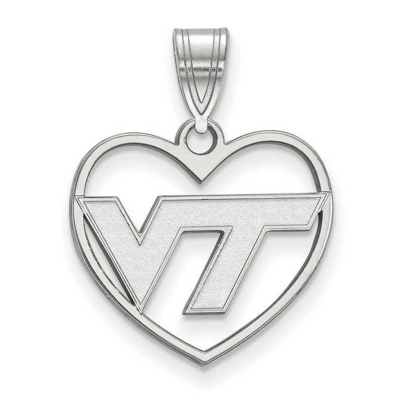SS011VTE: SS LogoArt Virginia Tech Pendant in Heart