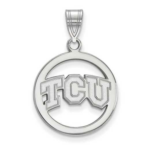 SS012TCU: SS LogoArt Texas Christian Univ Med Pendant in Circle