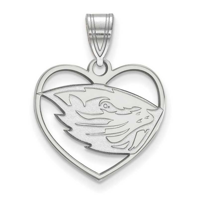 SS013ORS: SS Oregon State Univ Pendant in Heart