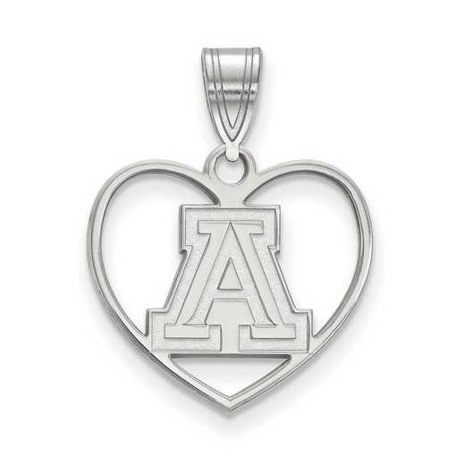 SS013UAZ: SS LogoArt Univ of Arizona Pendant in Heart