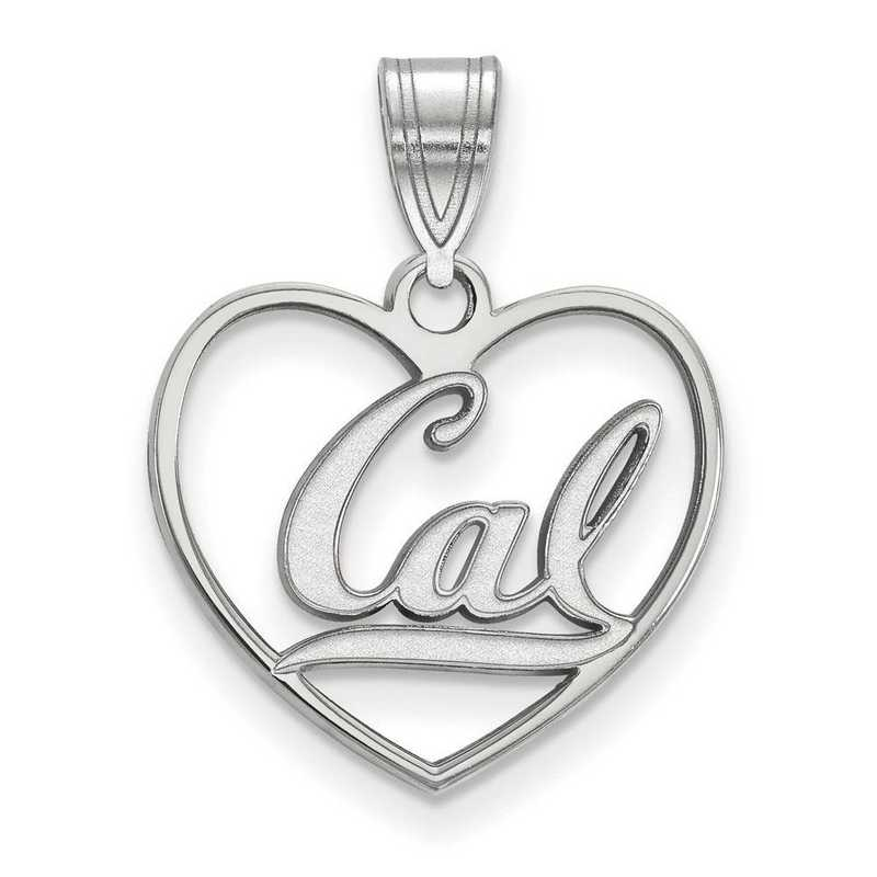 SS013UCB: SS LogoArt Univ of California Berkeley Pendant in Heart
