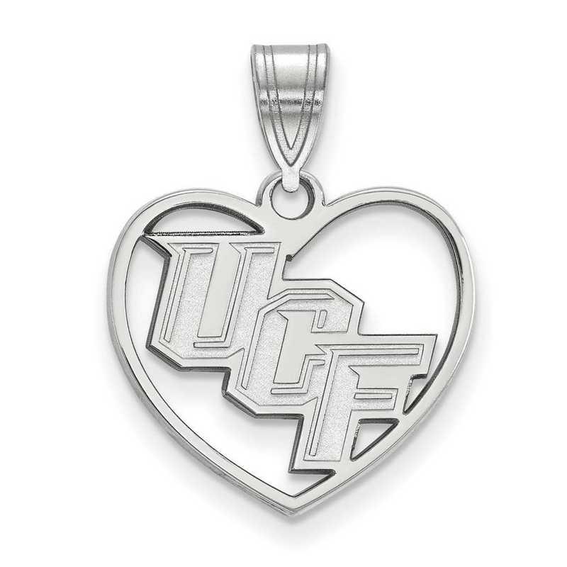SS013UCF: SS LogoArt Univ of Central Florida Pendant in Heart