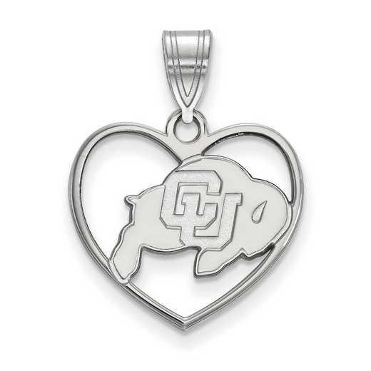 SS013UCO: SS LogoArt Univ of Colorado Pendant in Heart