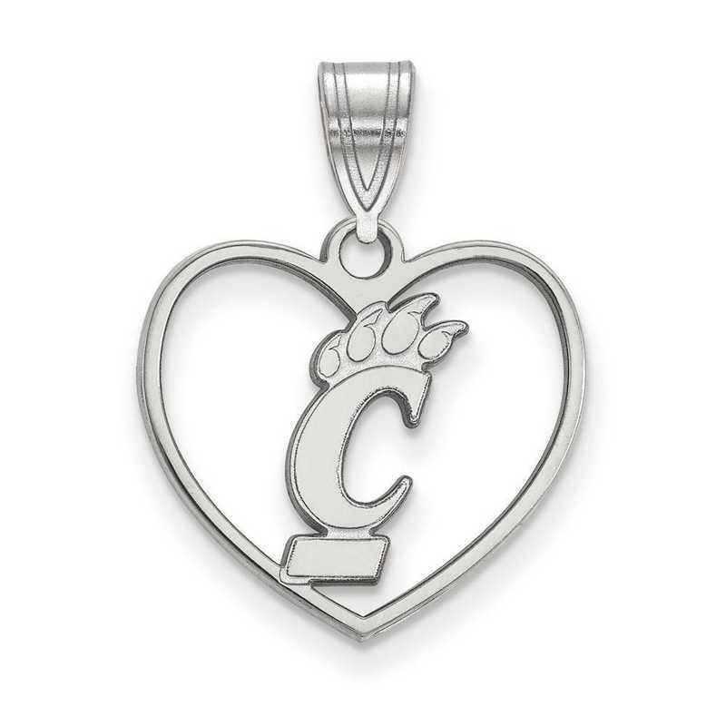 SS013UC: SS LogoArt Univ of Cincinnati Pendant in Heart