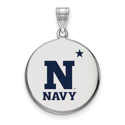 SS013USN: SS LogoArt Navy LG Enamel Disc Pendant
