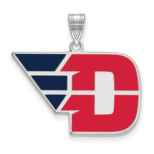 SS014UD: SS LogoArt Univ of Dayton LG Enamel Pendant