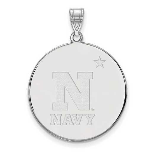 SS014USN: SS LogoArt Navy XL Disc Pendant
