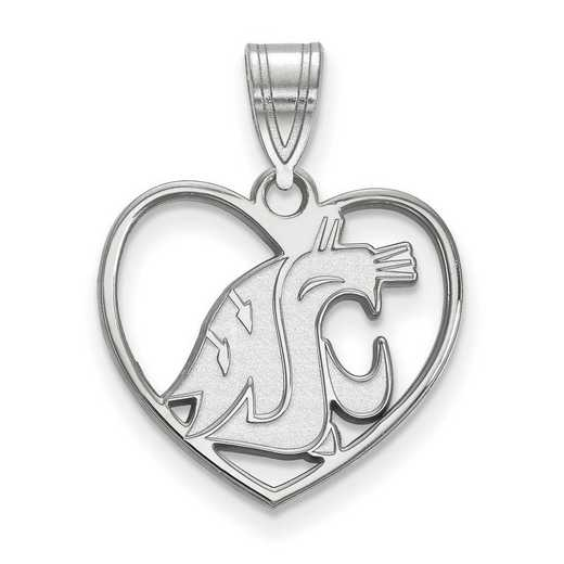 SS015WAS: SS LogoArt Washington State Pendant in Heart