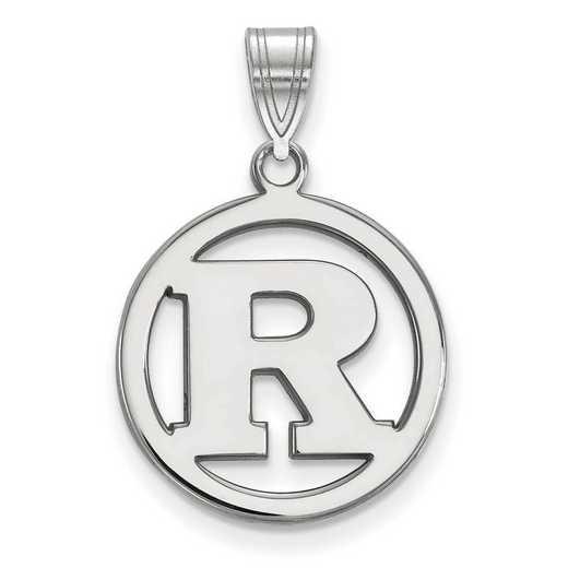 SS016RUT: SS LogoArt Rutgers Med Pendant in Circle