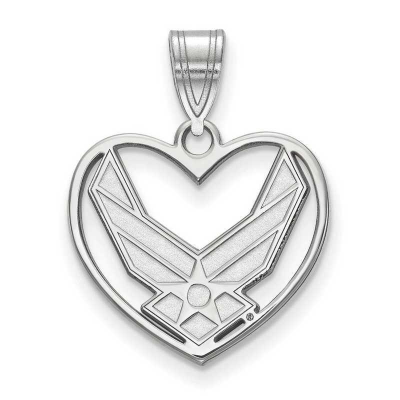 SS016USAF: SS LogoArt U.S. Air Force Academy Pendant in Heart