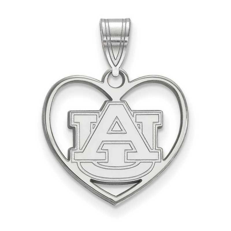 SS017AU: SS LogoArt Auburn Univ Pendant in Heart