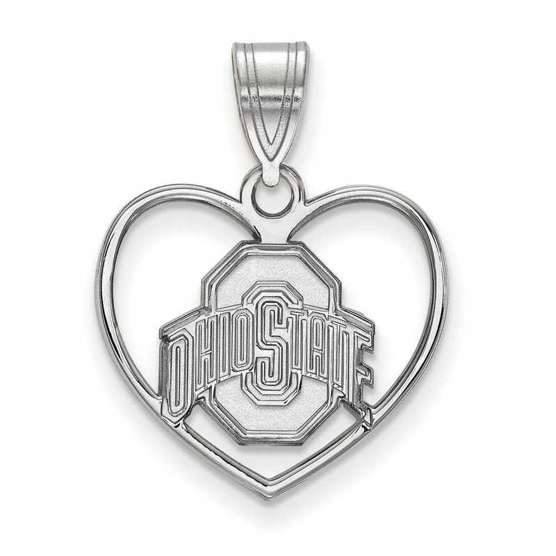 SS017OSU: SS LogoArt Ohio State Univ Pendant in Heart
