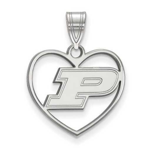 SS017PU: SS LogoArt Purdue Pendant in Heart