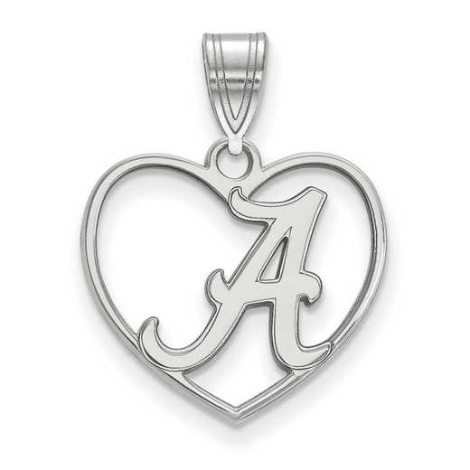 SS017UAL: SS LogoArt Univ of Alabama Pendant in Heart