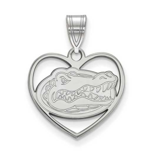 SS017UFL: SS LogoArt Univ of Florida Pendant in Heart