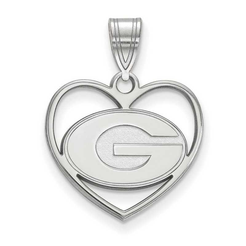 SS017UGA: SS LogoArt Univ of Georgia Pendant in Heart
