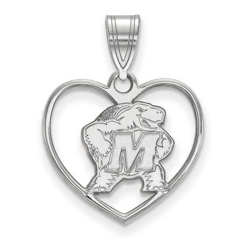 SS017UMD: SS LogoArt Maryland Pendant in Heart