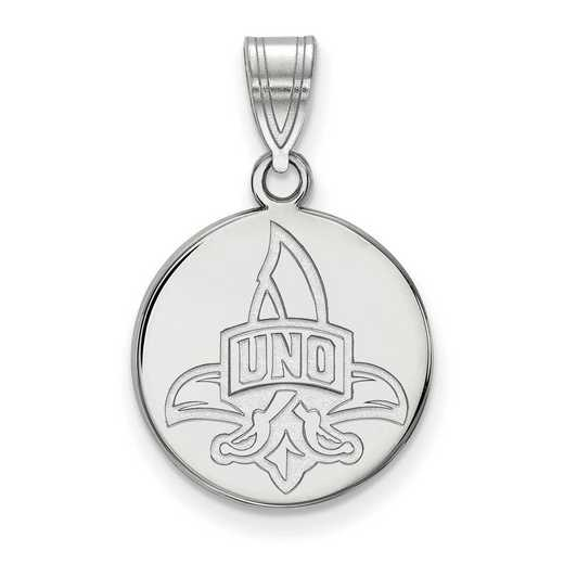 SS017UNO: SS LogoArt Univ of New Orleans Medium Disc Pendant