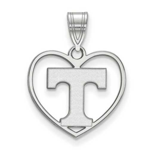 SS017UTN: SS LogoArt Univ of Tennessee Pendant in Heart