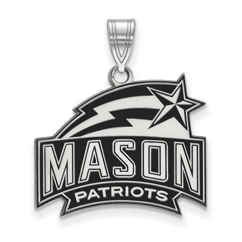 SS018GMU: SS LogoArt George Mason Univ LG Enamel Pendant