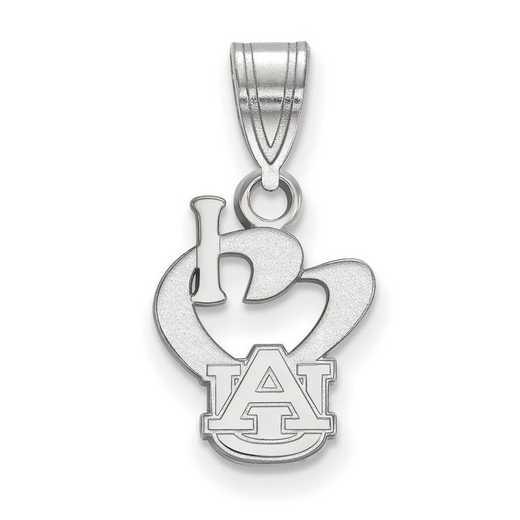 SS019AU: SS LogoArt Auburn Univ SML I Love Logo Pendant