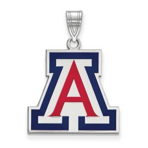 SS019UAZ: SS LogoArt Univ of Arizona LG Enamel Pendant