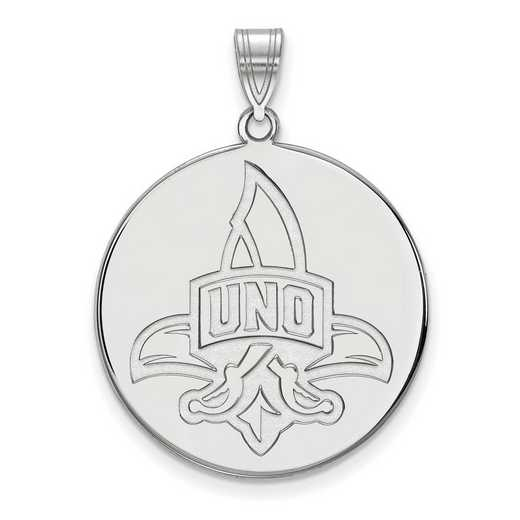 SS019UNO: SS LogoArt Univ of New Orleans XL Disc Pendant