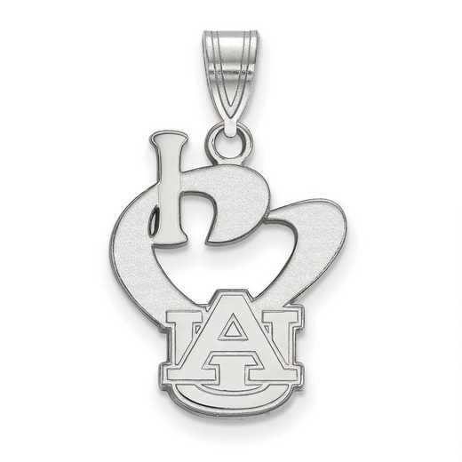 SS020AU: SS LogoArt Auburn Univ Large I Love Logo Pendant