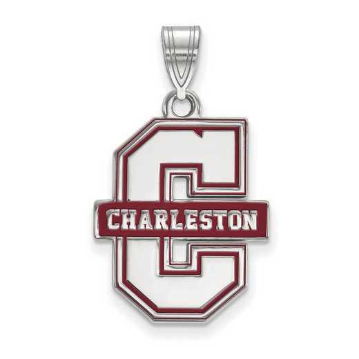 SS020CHC: SS LogoArt College of Charleston Enamel LG Pendant
