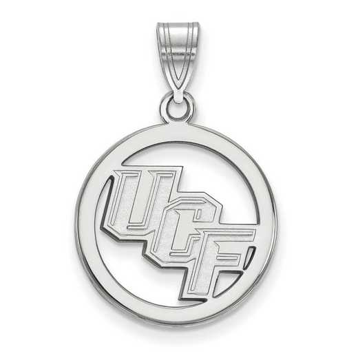 SS020UCF: SS LogoArt Univ of Central Florida Medium Pendant in Cir