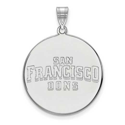 SS020USF: SS LogoArt Univ of San Francisco XL Disc Pendant