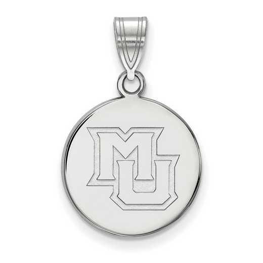 SS022MAR: SS LogoArt Marquette Univ Medium Disc Pendant
