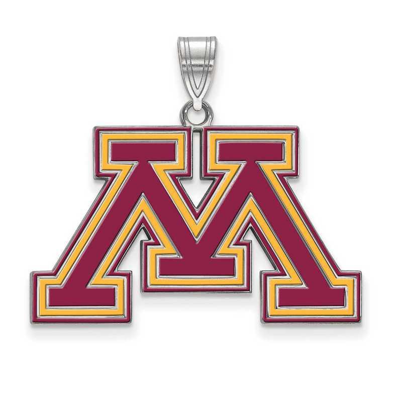SS022UMN: SS LogoArt Univ of Minnesota LG Enamel Pendant