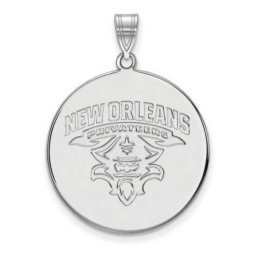 SS022UNO: SS LogoArt Univ of New Orleans XL Disc Pendant