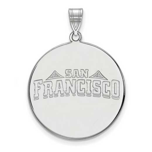 SS022USF: SS LogoArt Univ of San Francisco XL Disc Pendant