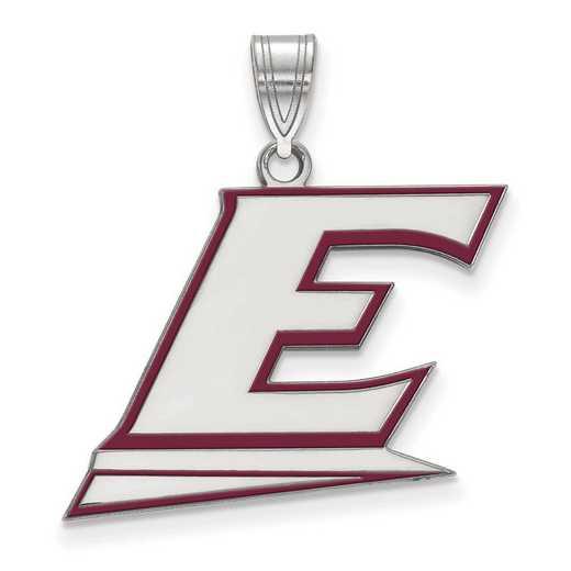 SS023EKU: SS LogoArt Eastern Kentucky Univ LG Enamel Pendant