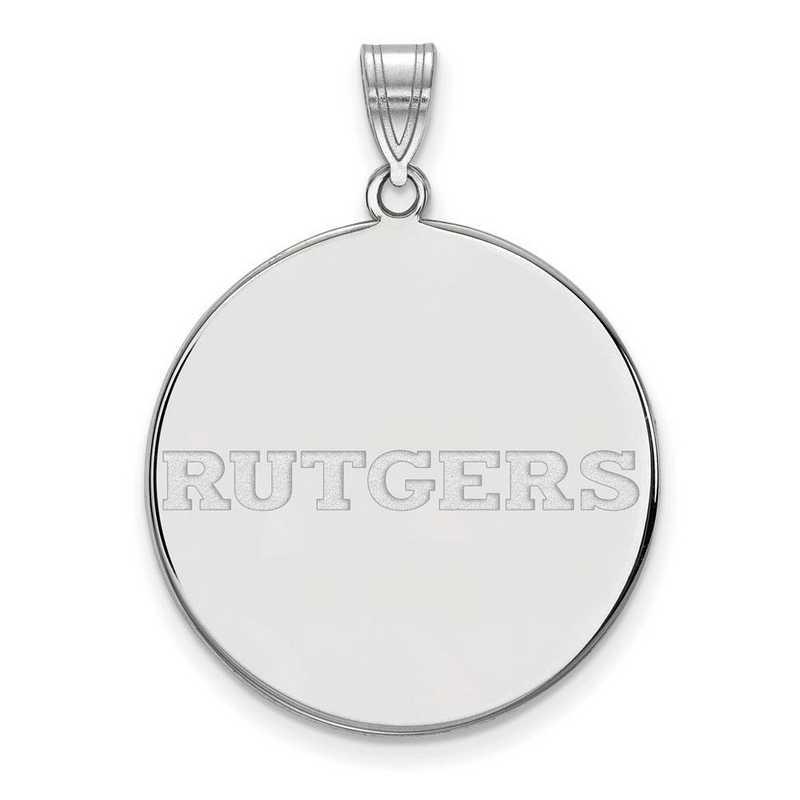 SS025RUT: SS LogoArt Rutgers XL Disc Pendant