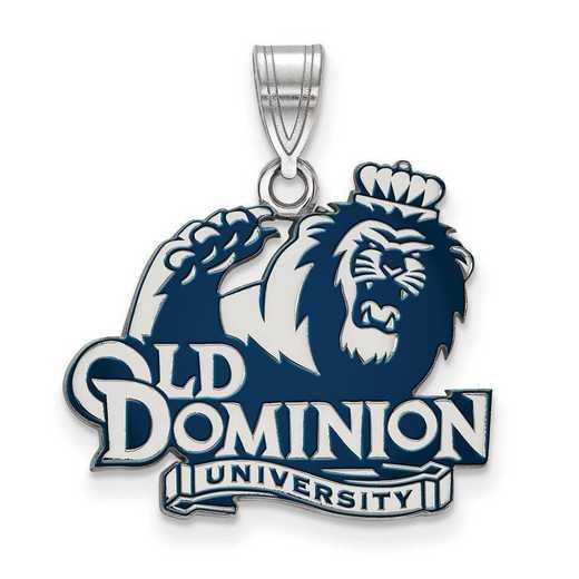 SS026ODU: SS LogoArt Old Dominion Univ LG Enamel Pendant