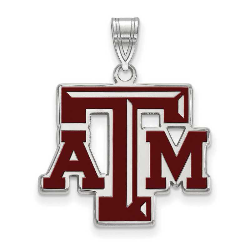 SS026TAM: SS LogoArt Texas A&M Univ LG Enamel Pendant
