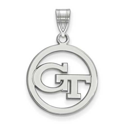 SS027GT: SS LogoArt Georgia Institute of Technology Md Pendant Circl