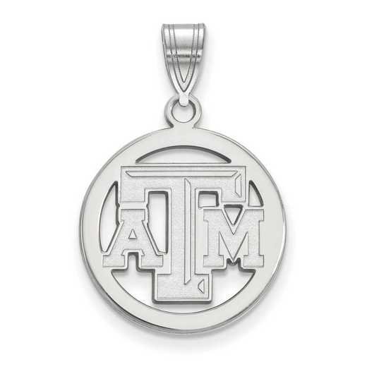 SS027TAM: SS LogoArt Texas A&M Univ Sm Pendant in Circle