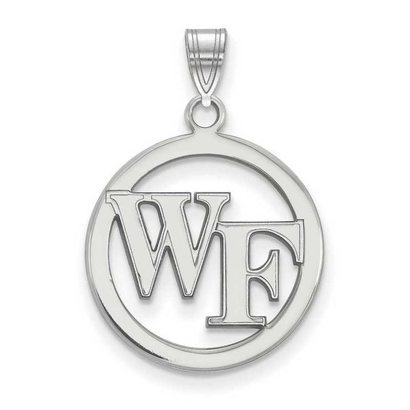 SS027WFU: SS LogoArt Wake Forest Univ Sm Pendant in Circle