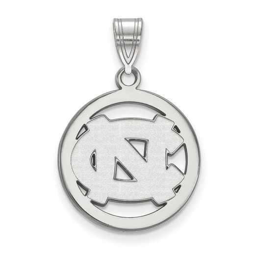SS028UNC: SS LogoArt Univ of North Carolina Med Pendant in Circle